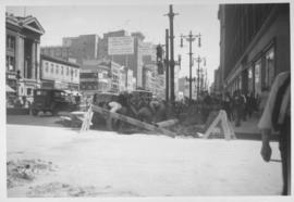 No. 1 Renewal of 8 inch cast iron water pipe in Portage Avenue from Kennedy Street to Main Street with 10 inch transit pipe, laid June, 1938