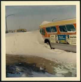 Marion buses stuck in snowbank in Windsor Park area
