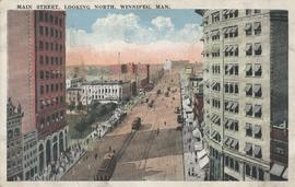 Main Street, looking north, Winnipeg, Man.