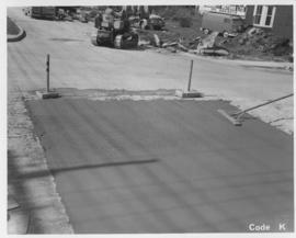 Pavement construction Project K, Ness Avenue (between Madison Street and St. James Street), Septe...