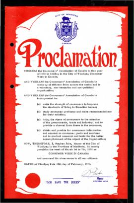 Proclamation - Consumer Week in Canada