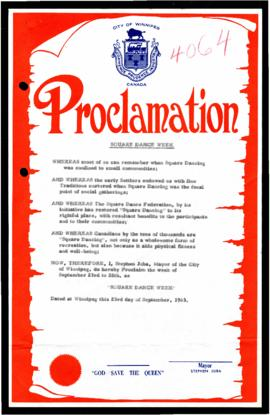 Proclamation - Square Dance Week