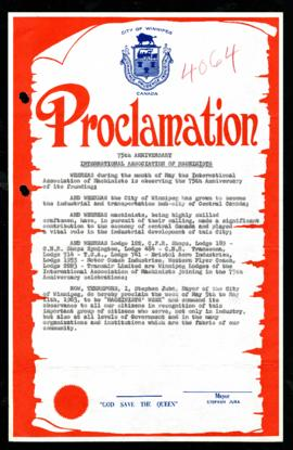 Proclamation - Machinists' Week