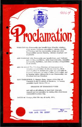 Proclamation - Chamber of Commerce Week