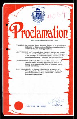 Proclamation - Better Business Bureau Week