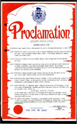 Proclamation - Credit Union Week