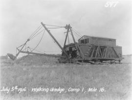 Walking dredge, Camp 1