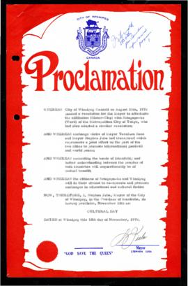 Proclamation - Cultural Day