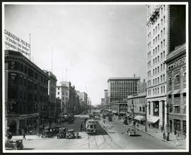 Portage Avenue looking west from Main Street