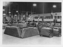 Stockpile of munitions shell cases at Dominion Bridge Company