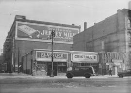 Southeast corner of back lane, north side of Market Avenue and Main Street, circa 1941