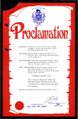 Proclamation - Kinsmen Peanut Day