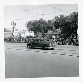 Winnipeg's 75th Anniversary parade - unmarked car
