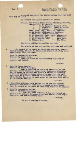 GWWD Board of Administration Minutes, numbers 4-7